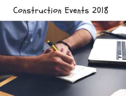 25 Construction Events in 2018