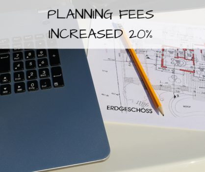 Planning fees increased by 20%
